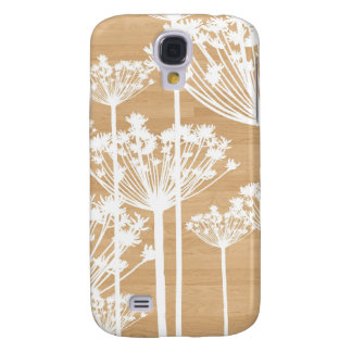 Wood background flowers girly floral pattern samsung galaxy s4 case