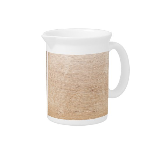 Wood background pitcher