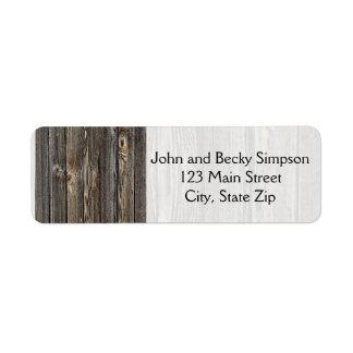 Wood Background Return Address Label