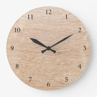 Wood background wall clock