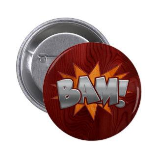 Wood Bam Pinback Button