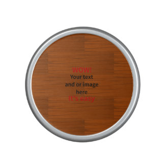 Wood Base Lyer Add Your own Text Speaker