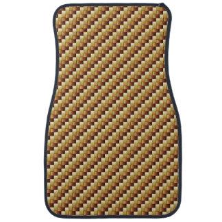 wood basket two-tone Car Mats (Front) Floor Mat