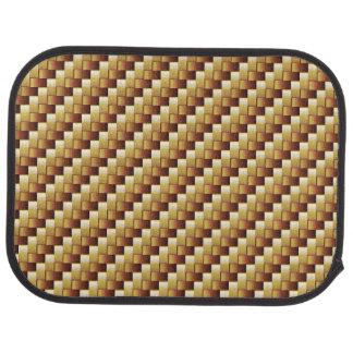 wood basket two-tone Car Mats (Rear) Floor Mat