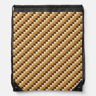 wood basket two-tone knapsack rucksacks