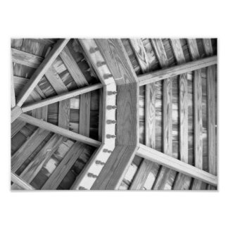 Wood Black And White Photograph Poster