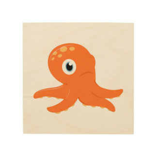 Wood board with Octopus Wood Wall Decor