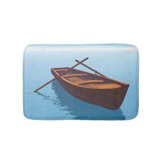 Wood boat - 3D render Bath Mats