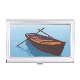 Wood boat - 3D render Business Card Holder