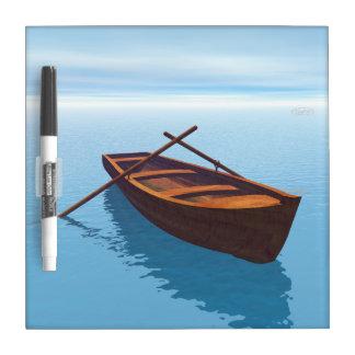 Wood boat - 3D render Dry Erase Board