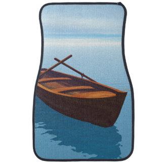 Wood boat - 3D render Floor Mat
