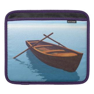 Wood boat - 3D render iPad Sleeve