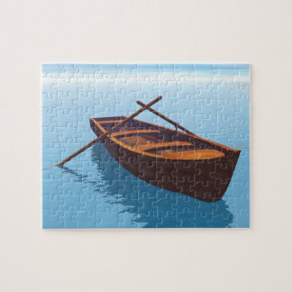 Wood boat - 3D render Jigsaw Puzzle