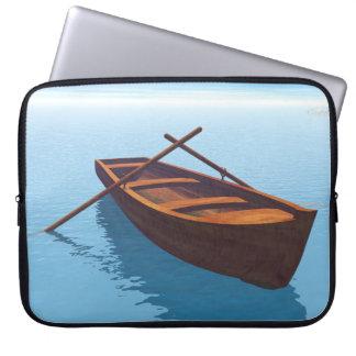 Wood boat - 3D render Laptop Sleeve