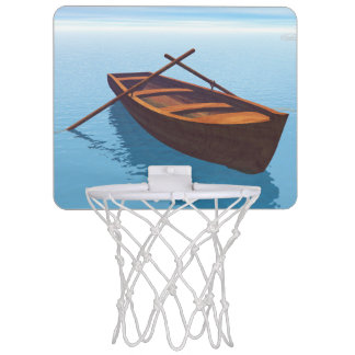 Wood boat - 3D render Mini Basketball Hoop
