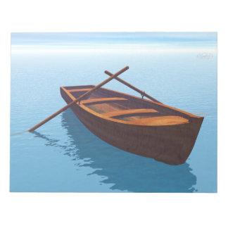 Wood boat - 3D render Notepad