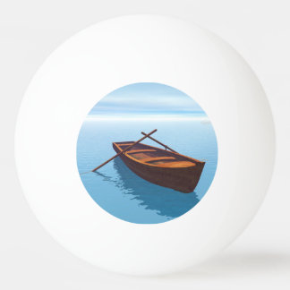 Wood boat - 3D render Ping Pong Ball