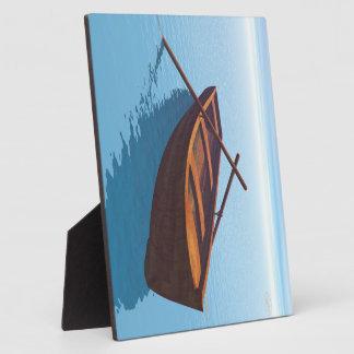 Wood boat - 3D render Plaques