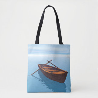 Wood boat - 3D render Tote Bag