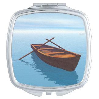 Wood boat - 3D render Travel Mirror