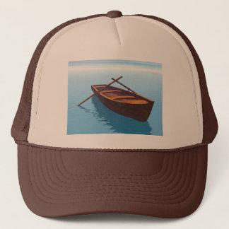 Wood boat - 3D render Trucker Hat