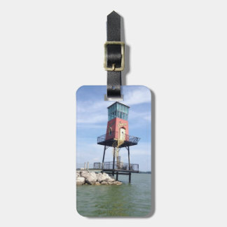 Wood Boat Sign Photo Luggage Tag