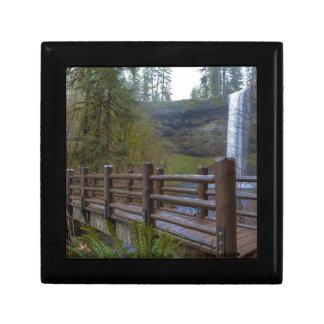 Wood Bridge at Silver Falls State Park Gift Box