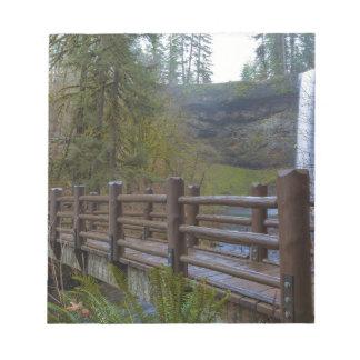 Wood Bridge at Silver Falls State Park Notepad