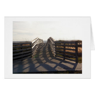 Wood Bridge Card