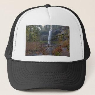 Wood Bridge on Hiking Trail at Silver Falls OR Trucker Hat