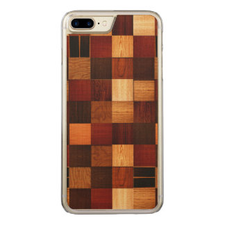 Wood Brock Pattern Carved iPhone 8 Plus/7 Plus Case