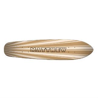 Wood brown Color Stripe Funky Pattern Custom Skate Board