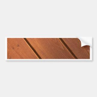 Wood Bumper Sticker