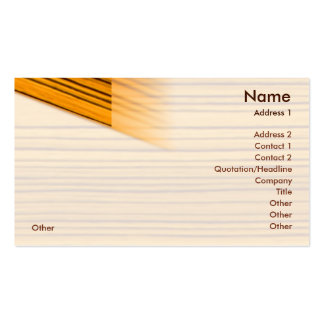 Wood - Business Pack Of Standard Business Cards