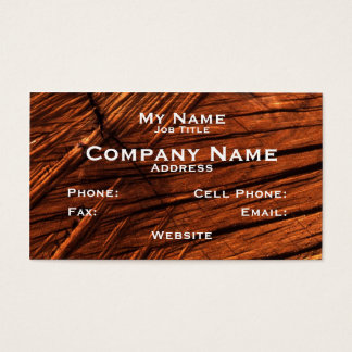 Wood businesses, colourful rough sawn wood image business card