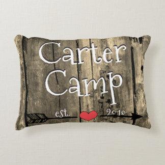 Wood Camp Sign Pillow