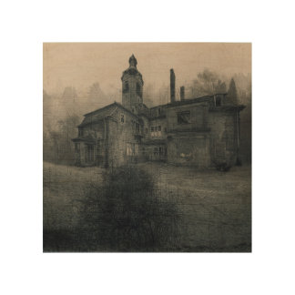 Wood canvas - Abandoned Place mansion draws to