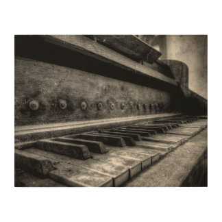 Wood canvas - old piano old piano - wood