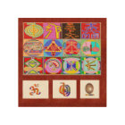 Wood Canvas REIKI Art NAVIN JOSHI, made in USA