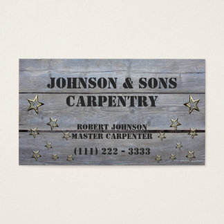 Wood / Carpentry Business Business Card