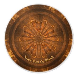 Wood Carving Ceramic Knob