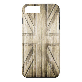 Wood Carving (Union Jack Flag) iPhone 8 Plus/7 Plus Case