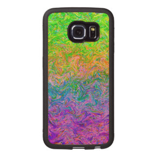 Wood Case Samsung Galaxy S6 Edge Fluid Colors