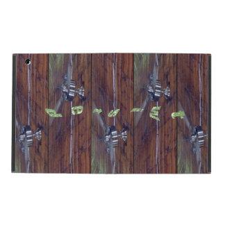 Wood Ceiling, Chrome Fans iPad Folio Cover