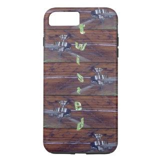 Wood Ceiling, Chrome Fans iPhone 7 Plus Case