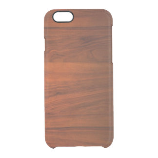 Wood Cherry iPhone 6/6S Clear Case