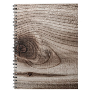 Wood closeup with knot notebook