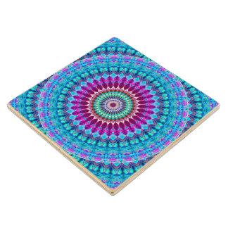 Wood Coaster Geometric Mandala G382