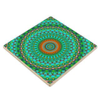 Wood Coaster Geometric Mandala G388