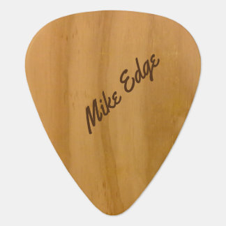 wood-color personalized guitar pick